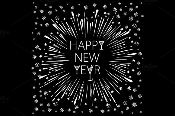 Happy New Year. Holiday Vector - Graphics