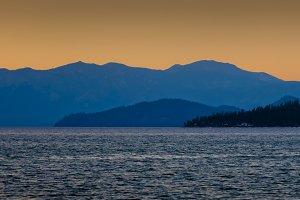 Evening at Lake Tahoe