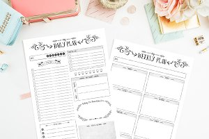 Bundle ~ Daily & Weekly Planners