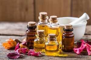 bottle of aroma essential oil