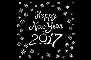 Happy New Year 2017 vector