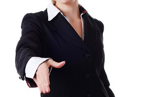 woman in business pantsuit