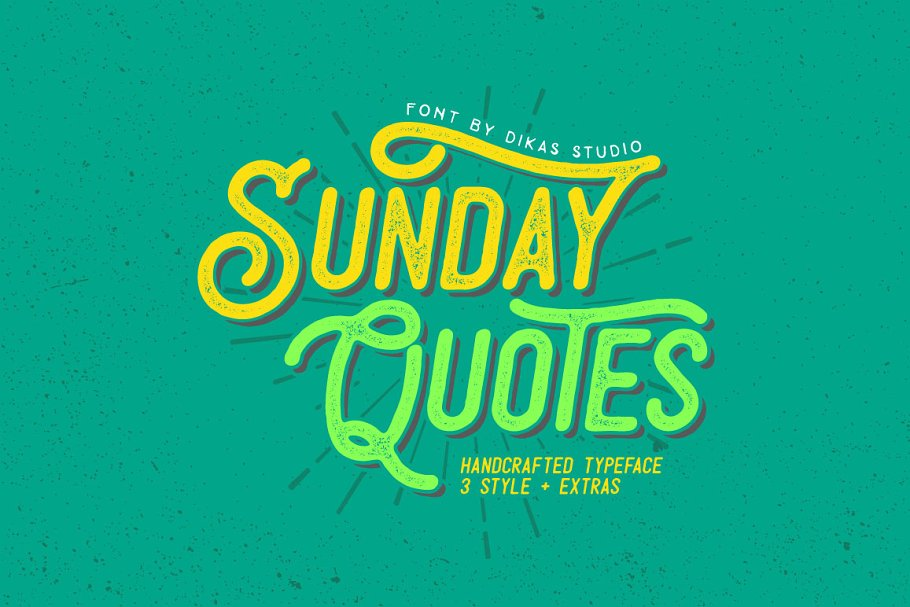 Sunday Quotes Extras Sans Serif Fonts Creative Market