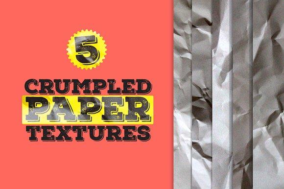 5 crumpled paper textures textures