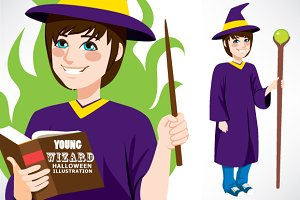 Young Wizard Standing