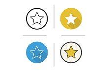 Star mark. 4 icons. Vector
