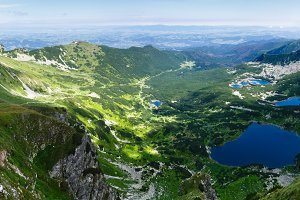Summer Tatra Mountain lake, Poland