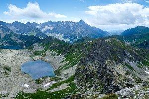 Summer Tatra Mountain lake, Poland