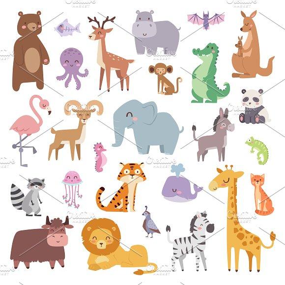 Cartoon animals character vector