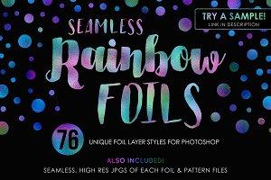 76 Seamless Rainbow Foils