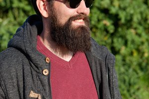 Young men with hipster look
