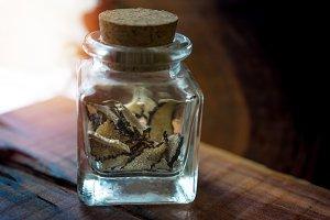 mushroom truffle of glass jar