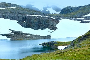 Norway summer mountain lake