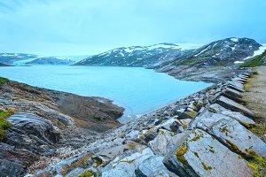 Norway summer mountain lake
