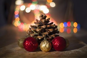 Bright christmas decorative pine