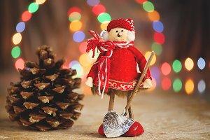 Toy man Christmas decoration.