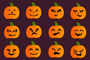 Halloweeen Pumpkins Set