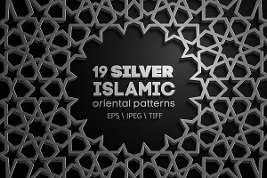 19 SILVER SEAMLESS ORIENTAL PATTERNS