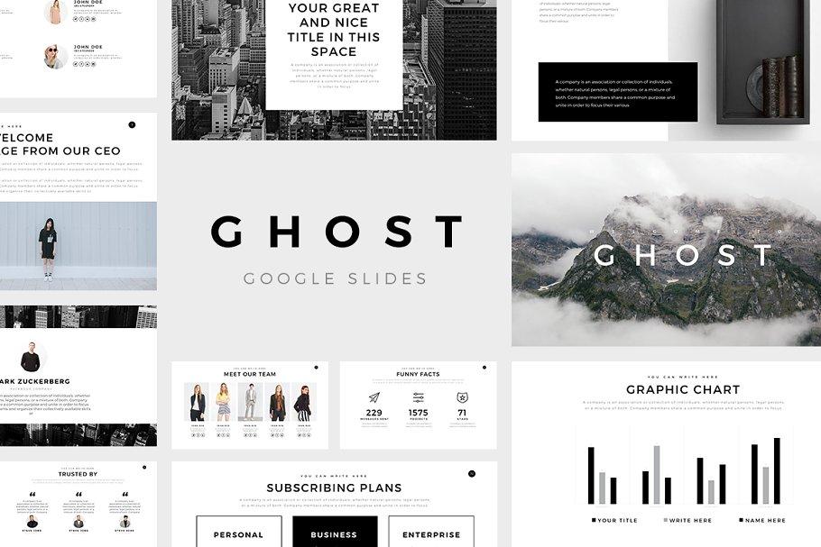 Ghost Minimal Google Slides Template ~ Google Slides