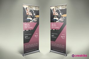 Gym Roll-Up Banner - v005