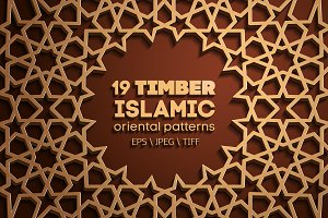 19 TIMBER SEAMLESS ORIENTAL PATTERNS