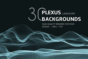 30 PLEXUS LANDSCAPE BACKGROUNDS