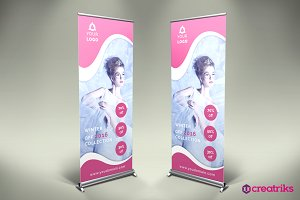 Fashion Style Roll-Up Banner - v006