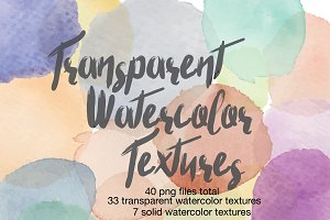 Transparent Watercolor Textures
