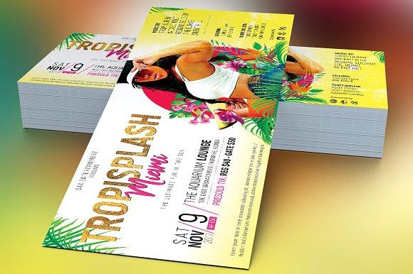 tropical party flyer template flyer templates creative market