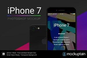 Iphone 7 Mockup Straight Black