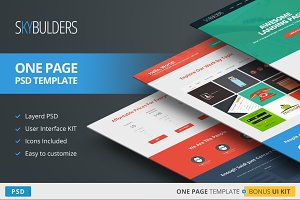 SkyBuilders One Page PSD Template