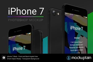Iphone 7 Mockup Angled Black