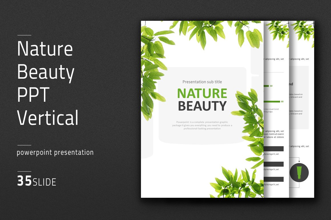 Nature Beauty PPT Vertical ~ PowerPoint Templates ~ Creative
