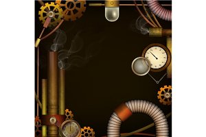 Steam punk background.