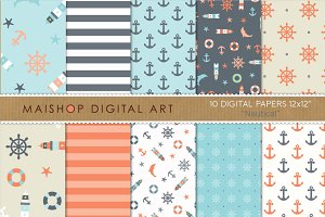 Digital Paper - Nautical
