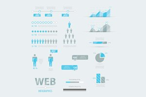 Web infographics set vector