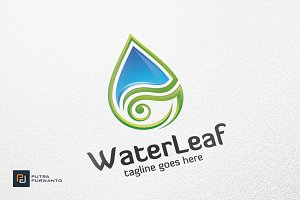 Water Leaf - Logo Template