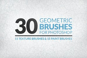 30 Geometric Texture Brushes