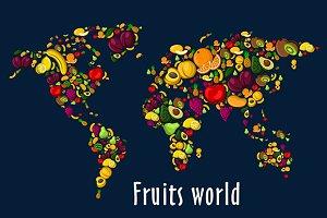 Fruits world map