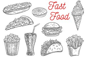 Fast food snacks and desserts