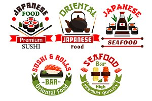 Japanese food restaurant icons