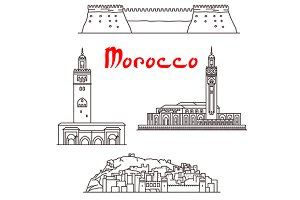 Historic landmarks of Morocco