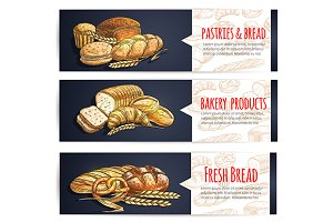 Bread and pastry banners