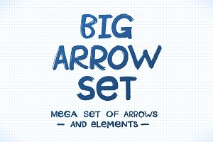 Big Ink Hand Drawn Arrow Set