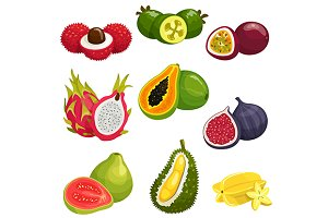 Tropical and exotic fruits
