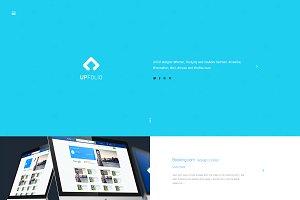 upFolio - minimal portfolio psd