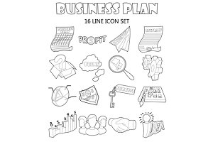Business plan icons set