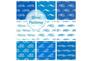 Ocean and sea waves patterns