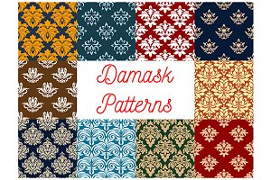 Damask ornaments and patterns