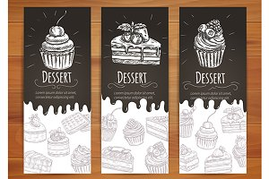 Bakery desserts posters
